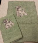 WESTIE PERSONALISED TOWEL SET - DOG